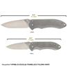 Picture of EXCELSA Large Framelock Folding Knife (D2 blade, Titanium handle)