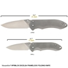 Picture of EXCELSA Small Framelock Folding Knife (D2 blade, Titanium handle)