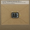"""Picture of AB- (Negative) Blood Type Patch  1.5"""" x 1.125"""""""