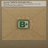 "Picture of B+ (Positive) Blood Type Patch  1.5"" x 1.125"""
