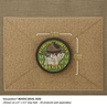 """Picture of Devil Dog PVC Patch 2.16"""" x 2.16"""" by Maxpedition®"""