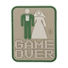 """Picture of Game Over PVC Patch 2"""" x 2.5"""" by Maxpedition®"""