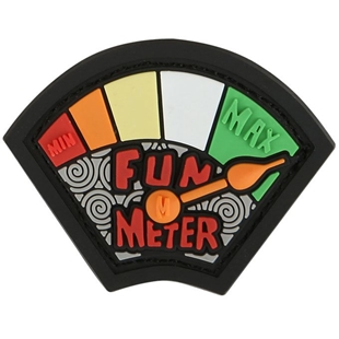 """Picture of Fun Meter PVC Patch 1.53"""" x 1.18"""" by Maxpedition®"""