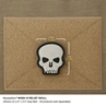 """Picture of Hi Relief Skull PVC Patch 1.7"""" x 2"""" by Maxpedition®"""