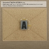 """Picture of LETTER """"A"""" PVC Patch 0.84"""" x 1.18"""" by Maxpedition®"""