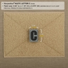 "Picture of LETTER ""C"" PVC Patch 0.84"" x 1.18"" by Maxpedition®"