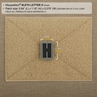 """Picture of LETTER """"H"""" PVC Patch 0.84"""" x 1.18"""" by Maxpedition®"""