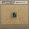 """Picture of LETTER """"O"""" PVC Patch 0.7"""" x 1.18"""" by Maxpedition®"""