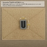 """Picture of LETTER """"U"""" PVC Patch 0.84"""" x 1.18"""" by Maxpedition®"""