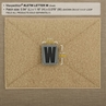 """Picture of LETTER """"W"""" PVC Patch 0.94"""" x 1.18"""" by Maxpedition®"""