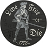 """Picture of Live Free or Die PVC Patch 3"""" x 3"""" by Maxpedition®"""