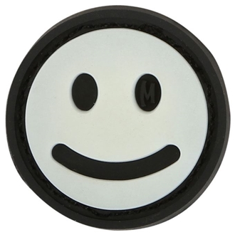"""Picture of Mini Happy Face PVC Patch 0.875"""" x 0.875"""" by Maxpedition®"""