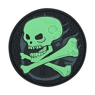 """Picture of Skull PVC Patch 2.5"""" x 2.5"""" by Maxpedition®"""