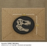 """Picture of T Rex Skull PVC Patch 3"""" x 2.5"""" by Maxpedition®"""