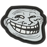 """Picture of Troll Face PVC Patch 2.25"""" x 1.9"""" by Maxpedition®"""