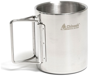 Picture of 10.5 oz Stainless Steel Double Wall Mug with Folding Handles by Chinook® Timberline