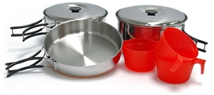 Picture of Ridgeline Trio Cookset | Stainless Steel | Chinook®