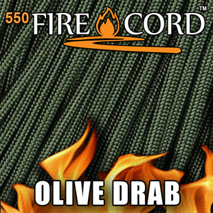 Picture of 550 FireCord - Olive Drab - 25 Feet by Live Fire Gear™