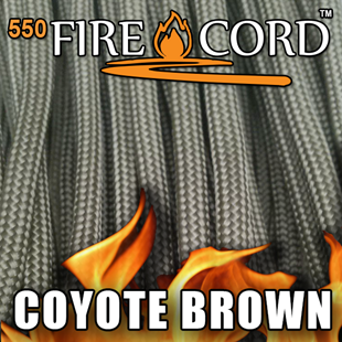 Picture of 550 FireCord - Coyote Brown - 50 Feet by Live Fire Gear™