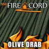Picture of 550 FireCord - Olive Drab - 50 Feet by Live Fire Gear™