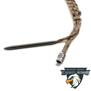 "Picture of 3.5"" Silver Paracord Needle (Fid) for 425RB or 7 Strand Cord"