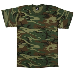 Picture of T-Shirt - US Made Camo Poly/Cotton by Rothco®