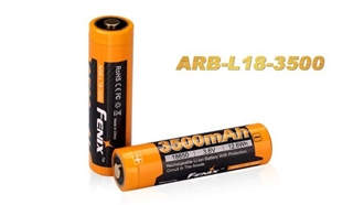 Picture of 18650 ARB-L18-3500 Rechargeable Li-ion Battery by Fenix™