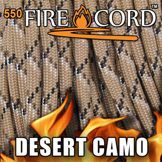 Picture of 550 FireCord - Desert Camo - 100 Feet by Live Fire Gear™