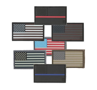 Picture of 2 x 1 American Flag 3D PVC Morale Patch by Maxpedition