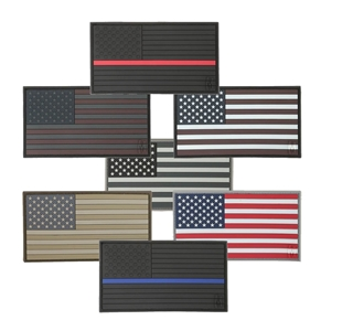 Picture of 3.25 x 1.75 American Flag 3D PVC Patch by Maxpedition