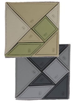 Picture of 3D PVC 3 x 3 Tangram 7-Piece Morale Patch by Maxpedition