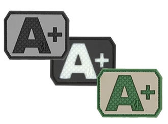 """Picture of A+ (Positive) Blood Type Patch  1.5"""" x 1.125"""""""