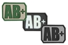 """Picture of AB+ (Positive) Blood Type Patch  1.5"""" x 1.125"""""""