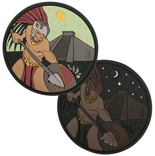 Picture of Aztec Warrior 3D PVC Morale Patch by Maxpedition®
