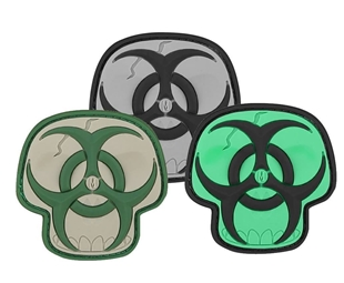 "Picture of Biohazard Skull PVC Patch 2"" x 2"" by Maxpedition®"