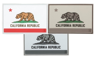 "Picture of California Flag PVC Patch 3"" x 2"" by Maxpedition®"