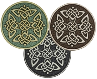 "Picture of Celtic Cross PVC Patch 3"" x 1.5"" by Maxpedition®"