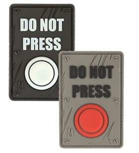 "Picture of DO NOT PRESS PVC Patch 1.5"" x 2.25"" by Maxpedition®"