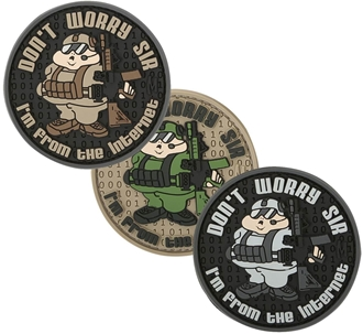 "Picture of Don't Worry Sir PVC Patch 2.5"" x 2.5"" by Maxpedition®"