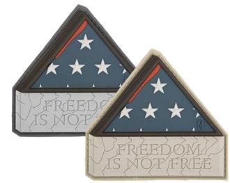 """Picture of Freedom Is Not Free PVC Patch 3"""" x 2.8"""" by Maxpedition®"""