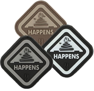 "Picture of It Happens PVC Patch 2"" x 2"" by Maxpedition®"