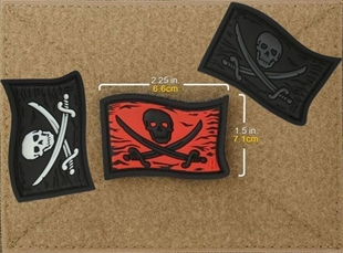 "Picture of Jolly Roger PVC Patch 2.25"" x 1.5"" by Maxpedition®"