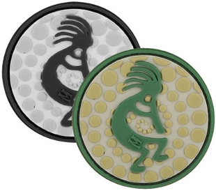 """Picture of Kokopelli PVC Patch 2"""" x 2"""" by Maxpedition®"""