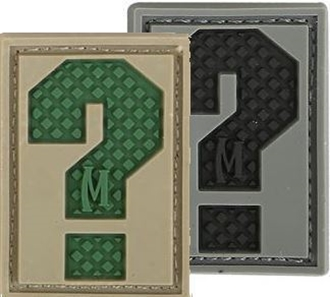 """Picture of LETTER """"?"""" PVC Patch 0.84"""" x 1.18"""" by Maxpedition®"""