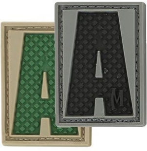 "Picture of LETTER ""A"" PVC Patch 0.84"" x 1.18"" by Maxpedition®"