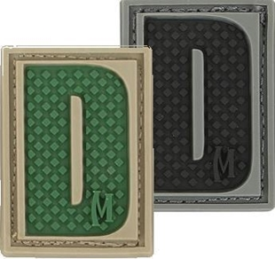 "Picture of LETTER ""D"" PVC Patch 0.84"" x 1.18"" by Maxpedition®"