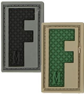 "Picture of LETTER ""F"" PVC Patch 0.7"" x 1.18"" by Maxpedition®"