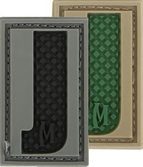 """Picture of LETTER """"J"""" PVC Patch 0.7"""" x 1.18"""" by Maxpedition®"""