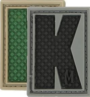 """Picture of LETTER """"K"""" PVC Patch 0.84"""" x 1.18"""" by Maxpedition®"""