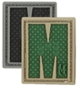 """Picture of LETTER """"M"""" PVC Patch 0.94"""" x 1.18"""" by Maxpedition®"""